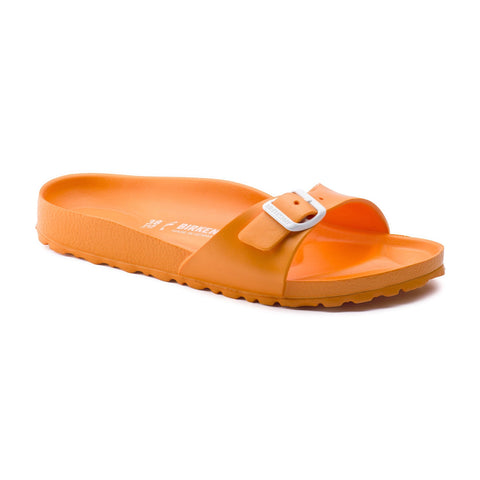 Birkenstock Madrid Slide Sandals in Neon Orange-Womens Sandals-Birkenstock-Unicorn Goods