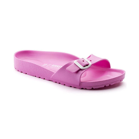 Birkenstock Madrid Slide Sandals in Neon Pink-Womens Sandals-Birkenstock-Unicorn Goods
