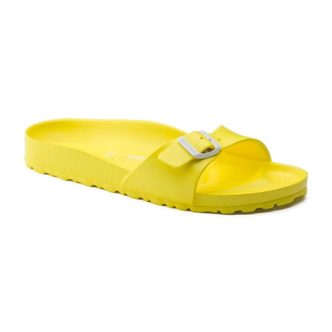 Birkenstock Madrid Slide Sandals in Neon Yellow-Womens Sandals-Birkenstock-Unicorn Goods
