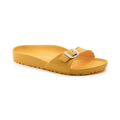 Birkenstock Madrid Slide Sandals in Scuba Yellow-Womens Sandals-Birkenstock-Unicorn Goods