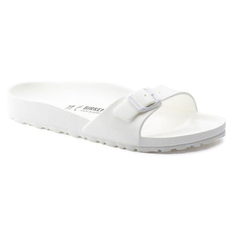 Birkenstock Madrid Slide Sandals in White-Womens Sandals-Birkenstock-Unicorn Goods