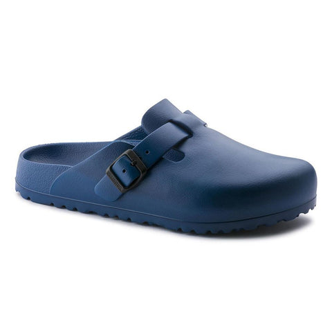 Birkenstock Vegan Boston Clogs in Navy-Unisex Slip-Ons-Birkenstock-Unicorn Goods