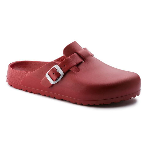 Birkenstock Vegan Boston Clogs in Red-Unisex Slip-Ons-Birkenstock-Unicorn Goods
