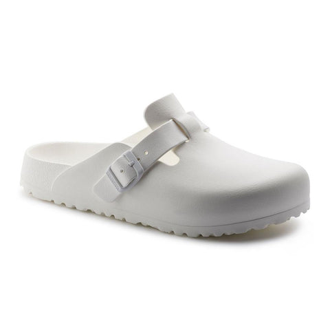 Birkenstock Vegan Boston Clogs in White-Unisex Slip-Ons-Birkenstock-Unicorn Goods