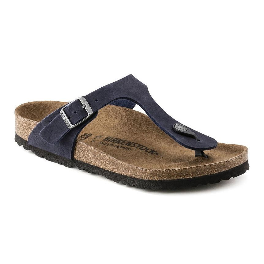 Birkenstock Vegan Gizeh Sandals in Navy-Unisex Sandals-Birkenstock-Unicorn Goods