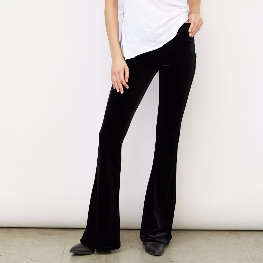 f03ea29b15e55 BlankNYC Velvet Flare Pants in Black – Unicorn Goods