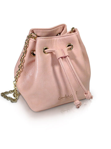 Camille's Closet Small Bucket Bag in Pink-Womens Purse-Camille's Closet-Unicorn Goods