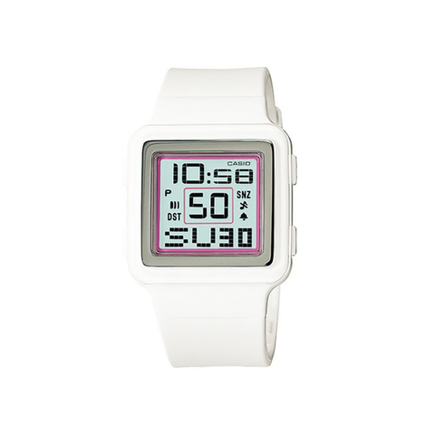 Casio Digital Poptone White Resin Grey Dial Women's Watch-Unisex Watch-Casio-Unicorn Goods