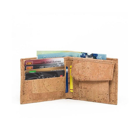 Cork by Design Coin Wallet-Mens Wallet-Cork by Design-Unicorn Goods