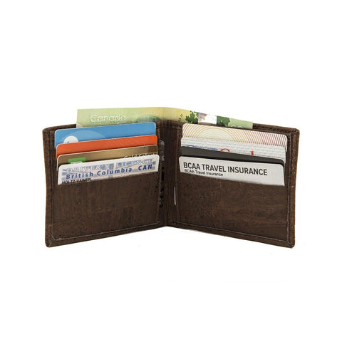 Cork by Design Slim Bi-Fold Wallet in Brown-Mens Wallet-Cork by Design-Unicorn Goods