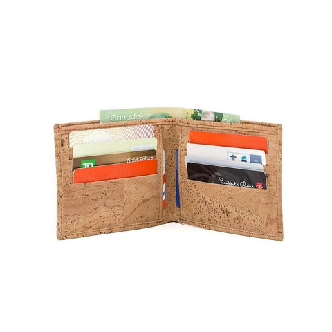 Cork by Design Slim Bi-Fold Wallet in Natural-Mens Wallet-Cork by Design-Unicorn Goods