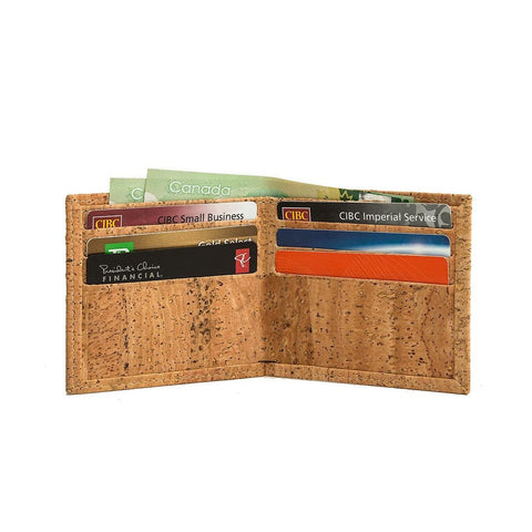 Cork by Design Ultra Slim Bi-Fold Wallet-Mens Wallet-Cork by Design-Unicorn Goods