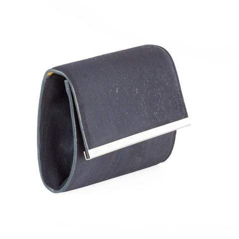 Corkor Clutch Purse in Blue-Womens Satchel-Corkor-Unicorn Goods
