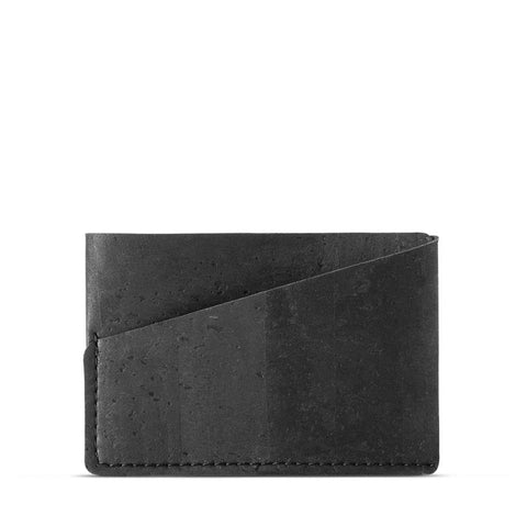 Corkor Front Pocket Wallet in Black-Mens Wallet-Corkor-Unicorn Goods