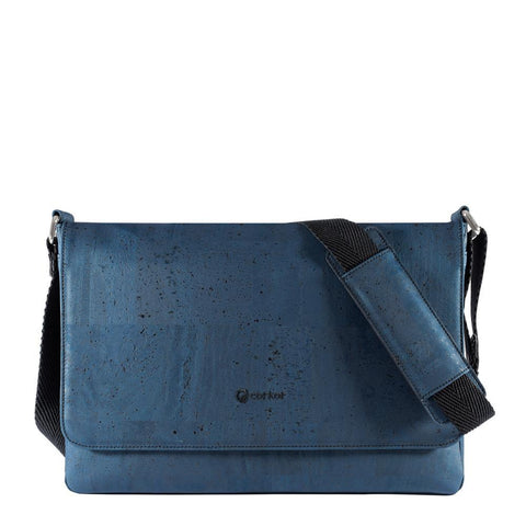 Corkor Messenger Bag in Blue-Unisex Messenger Bag-Corkor-Unicorn Goods