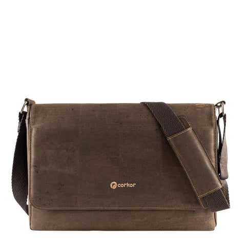Corkor Messenger Bag in Brown-Unisex Messenger Bag-Corkor-Unicorn Goods