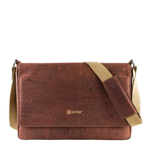 Corkor Messenger Bag in Red-Unisex Messenger Bag-Corkor-Unicorn Goods
