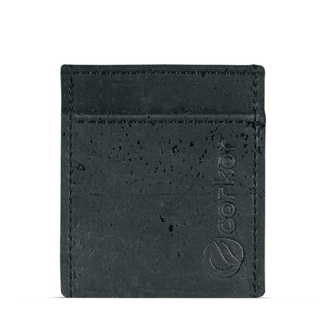 Corkor Minimalist Wallet in Black-Mens Wallet-Corkor-Unicorn Goods