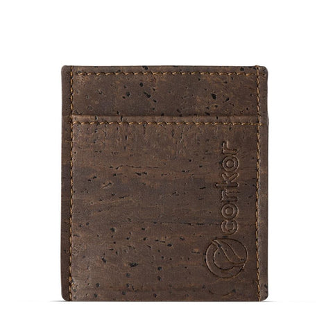 Corkor Minimalist Wallet in Brown-Mens Wallet-Corkor-Unicorn Goods
