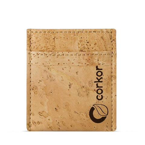 Corkor Minimalist Wallet in Natural-Mens Wallet-Corkor-Unicorn Goods