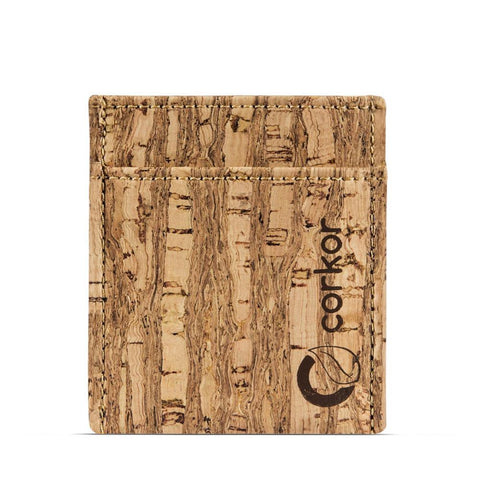 Corkor Minimalist Wallet in Zebra-Mens Wallet-Corkor-Unicorn Goods