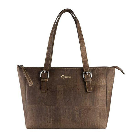 Corkor Satchel Bag in Brown-Womens Tote-Corkor-Unicorn Goods