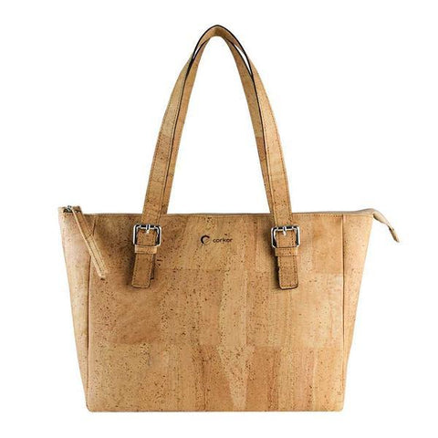 Corkor Satchel Bag in Light Brown-Womens Tote-Corkor-Unicorn Goods