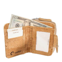 Corkor Small Zip Wallet (2 colors)-Womens Wallet-Corkor-Unicorn Goods