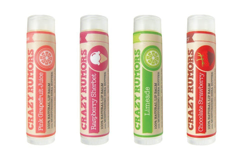 Crazy Rumors Lip Balm Spring 4 Pack-unisex lip balm-Crazy Rumors-Unicorn Goods