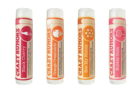 Crazy Rumors Lip Balm Summer 4 Pack-unisex lip balm-Crazy Rumors-Unicorn Goods