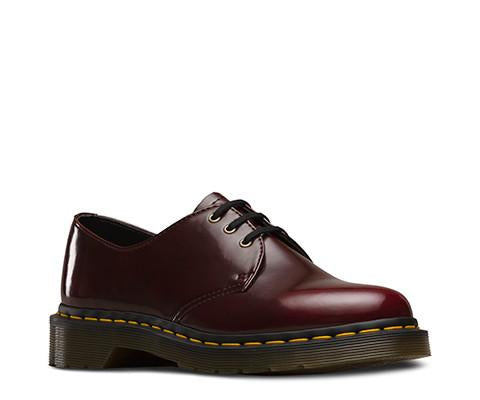 Dr. Martens Vegan 1461 Women's 3-eye Shoes in Red-Womens Oxfords-Doc Martens-Unicorn Goods
