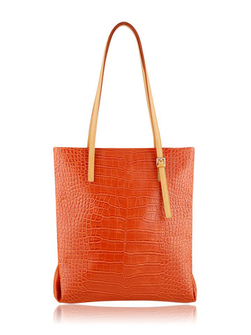 ESPE Croco Tote in Orange-Womens Tote-ESPE-Unicorn Goods