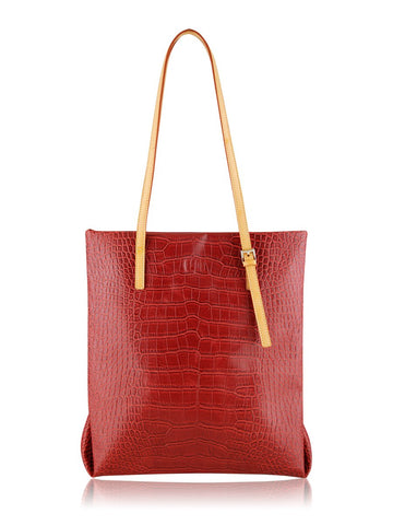 ESPE Croco Tote in Red-Womens Tote-ESPE-Unicorn Goods