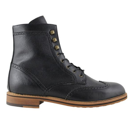 FAIR Brogue Boots in Black-Mens Boots-FAIR-Unicorn Goods