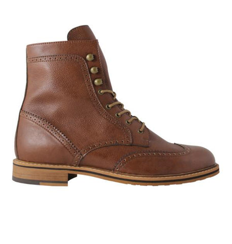 FAIR Brogue Boots in Cognac-Mens Boots-FAIR-Unicorn Goods