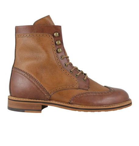 FAIR Brogue Boots in Tan & Cognac-Mens Boots-FAIR-Unicorn Goods