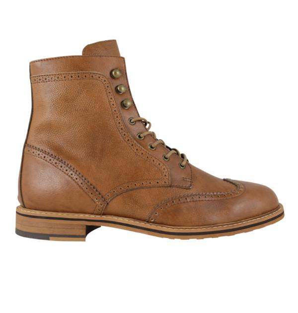 FAIR Brogue Boots in Tan-Mens Boots-FAIR-Unicorn Goods