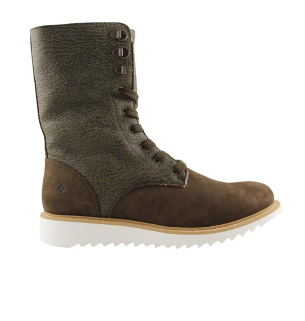 FAIR Comfy Lace-Up Boots in Olive-Womens Boots-FAIR-Unicorn Goods