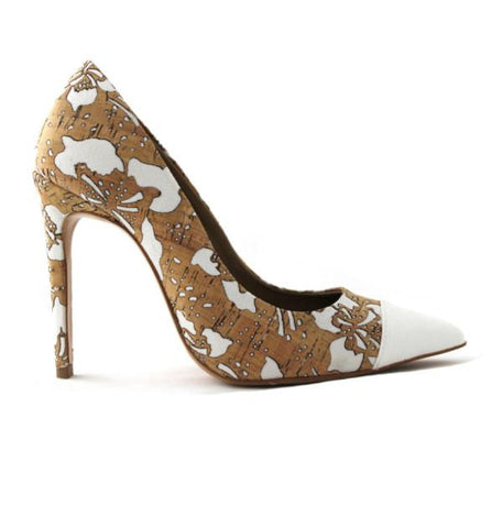 FAIR Flower Cork Pumps-Womens Pumps-FAIR-Unicorn Goods
