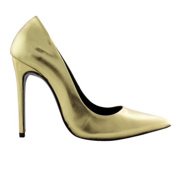 FAIR Metallic Sheen Pumps in Gold-Womens Pumps-FAIR-Unicorn Goods