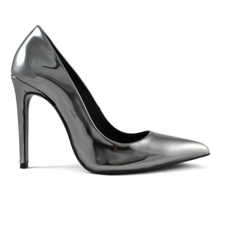 FAIR Metallic Sheen Pumps in Silver-Womens Pumps-FAIR-Unicorn Goods