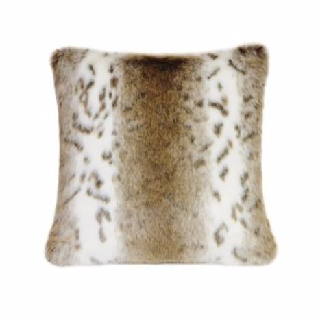 Faux Apsley Beige Lynx Cushion-Bedding-Faux-Unicorn Goods