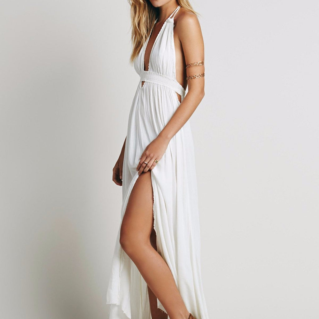 Free People Look Into The Sun Maxi in Cream-Womens Long Dress-Free People-Unicorn Goods