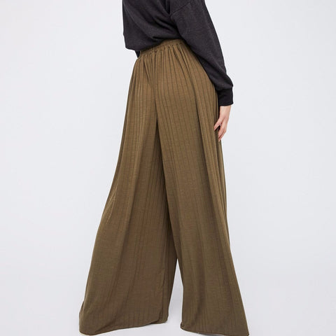 Free People Love Me Wide Leg in Olive-Womens Pants-Free People-Unicorn Goods