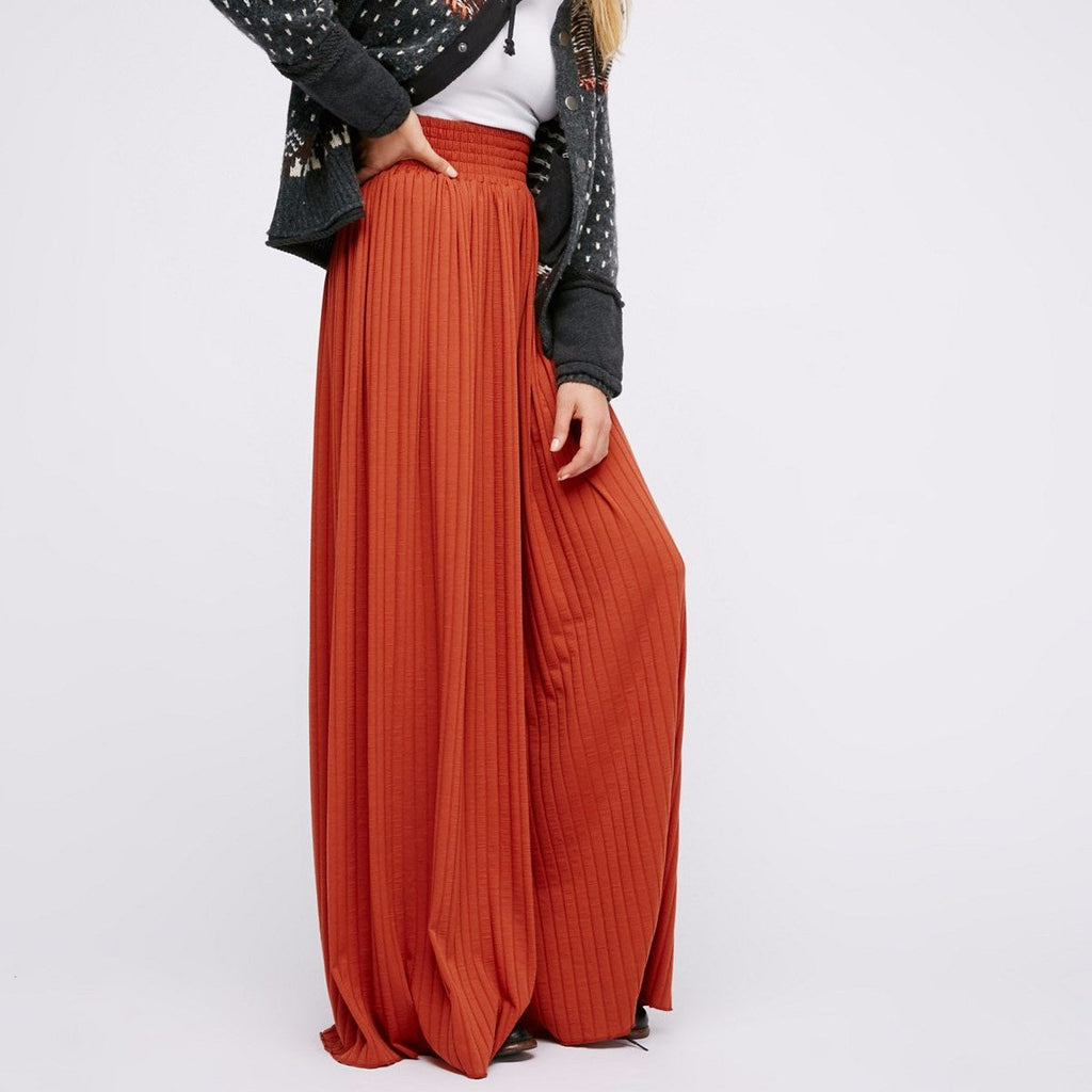 Free People Love Me Wide Leg in Rust-Womens Pants-Free People-Unicorn Goods