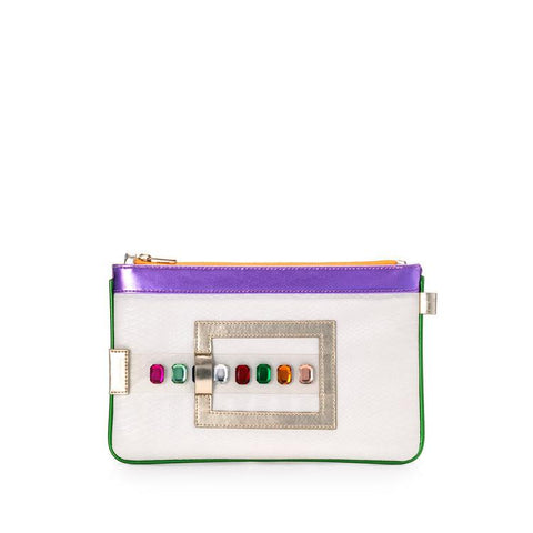 FruitenVeg GEMINI Bracelet Clutch in Multicolor Gems-Womens Clutch-FruitenVeg-Unicorn Goods
