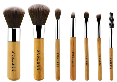Furless Mini Bamboo Makeup Brush Set-Makeup - Brushes-Furless-Unicorn Goods