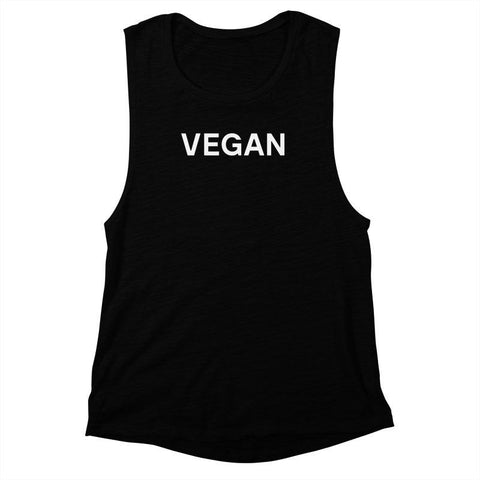 Goods by Unicorn Goods Leather Sucks Women's Muscle Tank in Black-Womens Tank Top-Goods by Unicorn Goods-Unicorn Goods