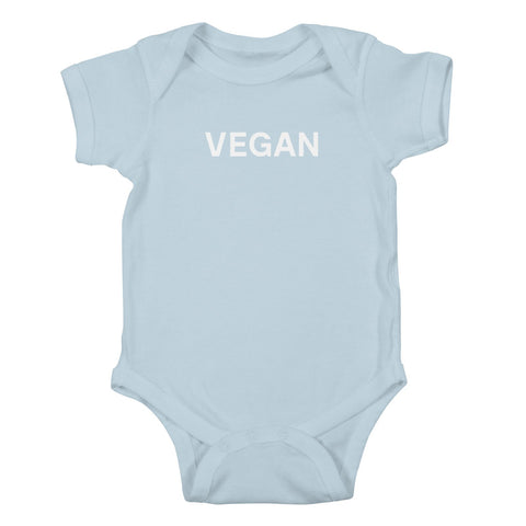 Goods by Unicorn Goods Vegan Baby Onesie Bodysuit in Baby Blue-Kids - Clothing-Goods by Unicorn Goods-Unicorn Goods