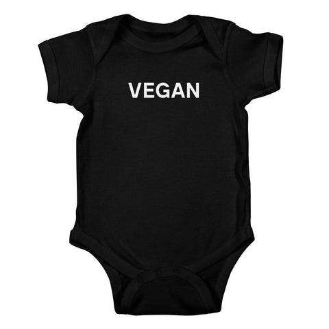Goods by Unicorn Goods Vegan Baby Onesie Bodysuit in Black-Kids - Clothing-Goods by Unicorn Goods-Unicorn Goods